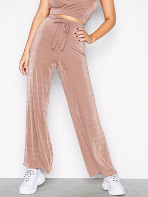 NLY Trend Fancy Tie Pants Beige byxor