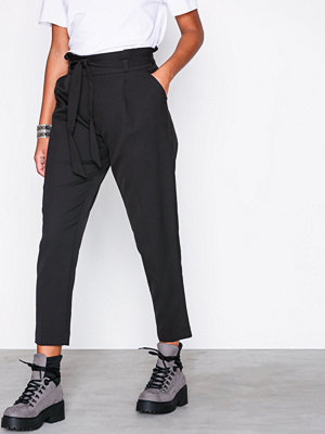 New Look svarta byxor Tie Waist Trouser Black