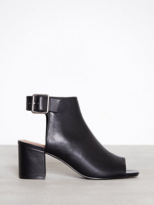 Pumps & klackskor - Topshop Danni Buckle Shoe Boots Black