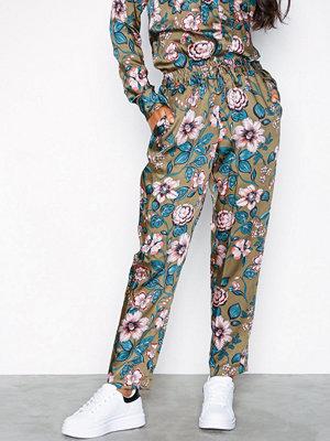 Lauren Ralph Lauren mönstrade byxor Ogin-Skinny-Pant Green