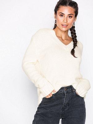 Calvin Klein Jeans Alpaca Blend V-Neck Egret