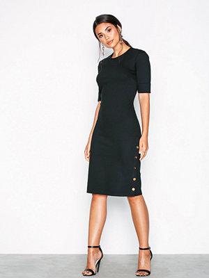 Lauren Ralph Lauren Raena-Elbow Sleeve-Casual Dress Black