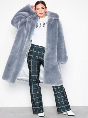 Hope Viva Fur Coat Blue