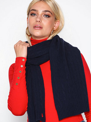 Halsdukar & scarves - Polo Ralph Lauren Cable Wool Scarf Navy