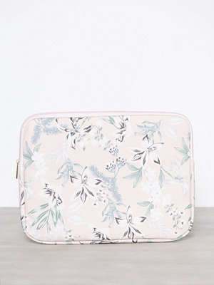 New Look mönstrad datorväska Floral Laptop 13 Inch Case Light Pink