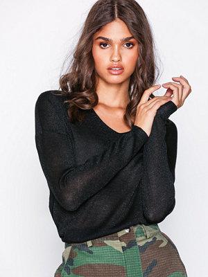 Only onlPISA L/S V-Neck Pullover Knt Noo Svart