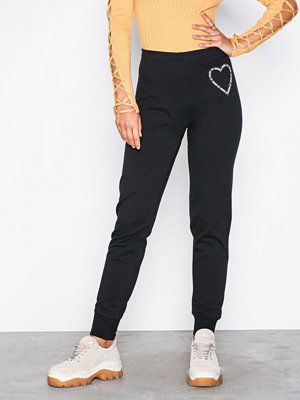 Love Moschino svarta byxor med tryck W4F1565M3517 Black