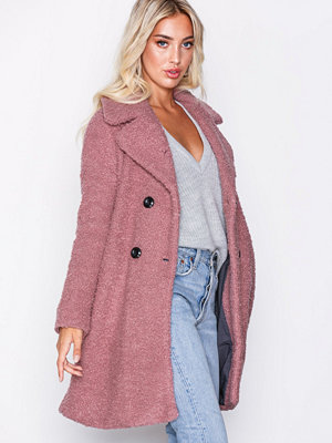 Only onlPALOMA Boucle Long Wool Coat Otw Rosa