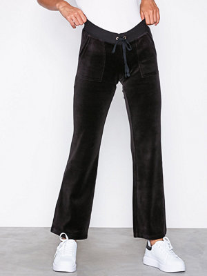 Juicy Couture svarta byxor Velour Del Rey Pant Oxford