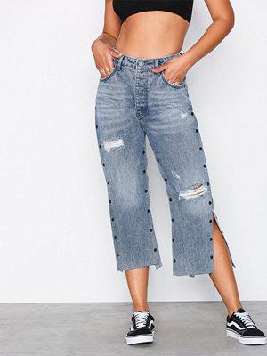Jeans - One Teaspoon Split Hooligans Low Waist Relaxed Straight Leg Jean