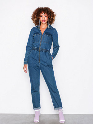 Noisy May Nmebba L/S Jumpsuit 5 Blå