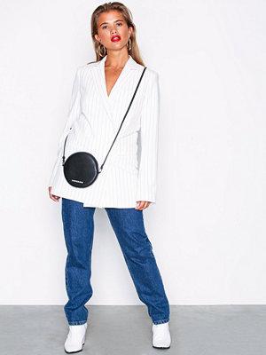 Calvin Klein Pu Carryall Circle Bag Svart axelväska