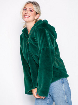 Glamorous Zip Hooded Jacket Green