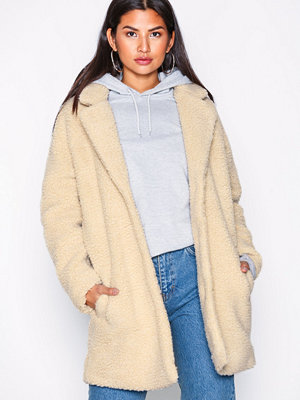 Only onlAURELIA Oversized Shearling Coat Ljus Brun