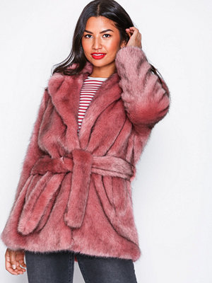Selected Femme Slffury Faux Fur B Lila