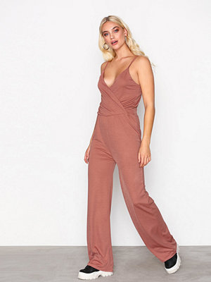 NLY Trend Strappy Solid Jumpsuit Rust