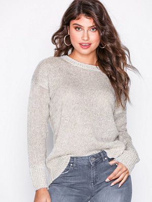 New Look Curved Hem Jumper Pale Grey