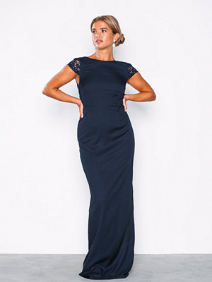NLY Eve V Back Slit Gown Navy