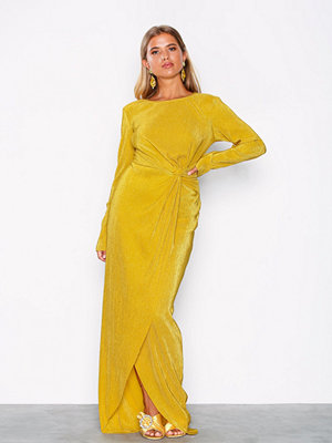 NLY Eve Padded Pleated Gown Gul
