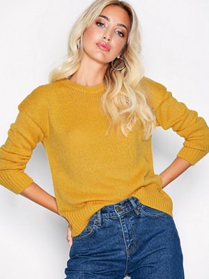 New Look Curved Hem Jumper Yellow