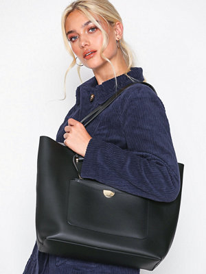 Handväskor - New Look Leather-Look Tote Bag Black