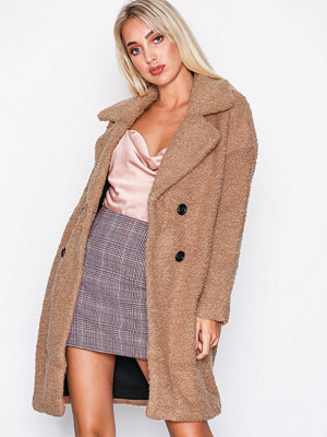 Only onlPALOMA Boucle Long Wool Coat Otw Ljus Brun