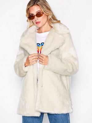 Glamorous Fur Coat Cream