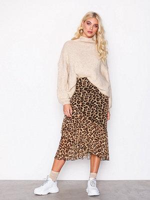 NLY Trend Leo Mesh Skirt Leopard