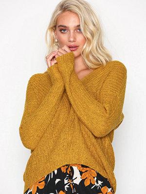 Only Jdymegan L/S Pullover Knt Noos Mörkorange