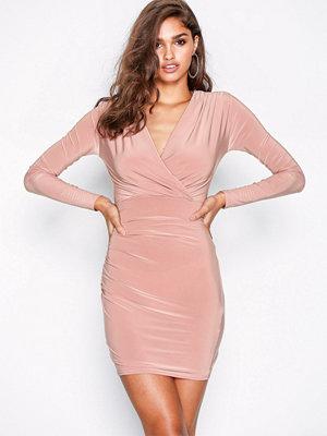 Missguided Gathered Mini Dress Pink