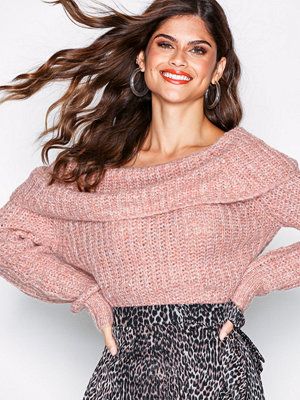 Only onlCAROLYN L/S Pullover Ex Knt Rosa