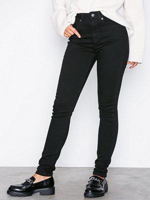 Jeans - Selected Femme Slfmaggie Hw Skinny Black Jeans W N Svart