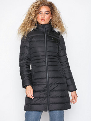 Tommy Jeans Tjw Essential Hooded Down Coat Black