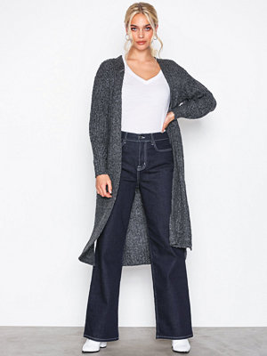Pieces Pcfippa Ls Knit Coatigan Svart
