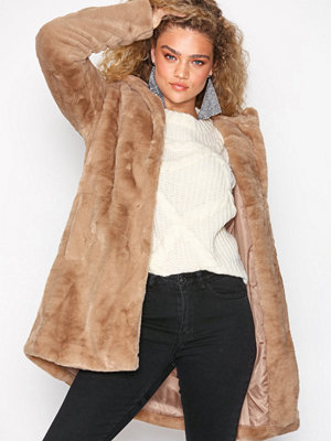 Object Collectors Item Objmia Faux Fur Coat 98 Ljus Grå