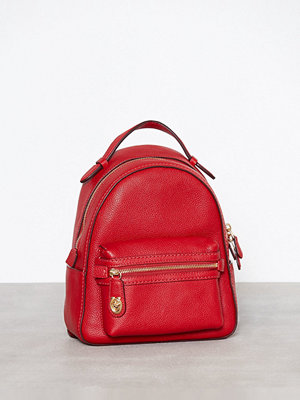 Coach röd ryggsäck Polished Pebble Campus Backpack 23 Jasper