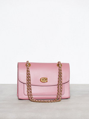 Coach omönstrad axelväska Refined Calf Leather Parker Shoulder Bag Rose