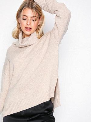 Filippa K Chunky Roller Neck Sweater Sandstone