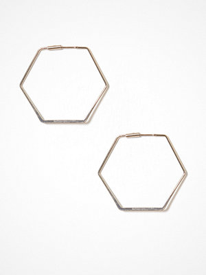 NLY Accessories örhängen Hexagon Hoops Guld