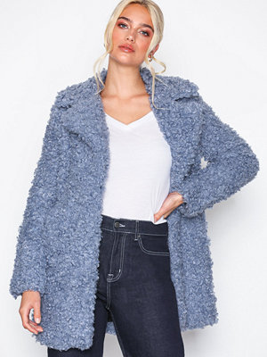 River Island omönstrad bomberjacka Cookie Monster Curly Coat Blue