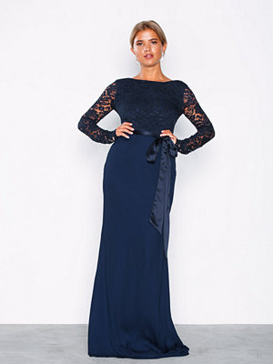 NLY Eve Open Back Bow Gown Navy