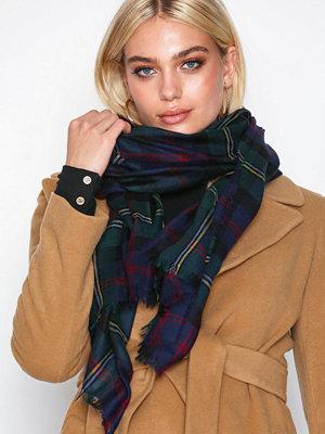 Lauren Ralph Lauren Plaid Wool Wrap Svart