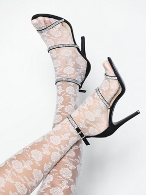 Pumps & klackskor - NLY Shoes Triple Jewel Strap Heel Svart