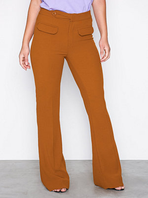 Gestuz orange byxor Cara Pants Brun