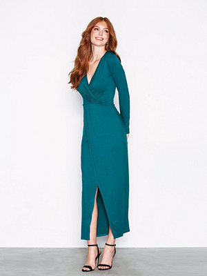 NLY Trend Long Sleeve Wrap Dress Teal