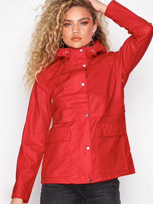 Only onlTRAIN Short Raincoat Otw Noos Röd