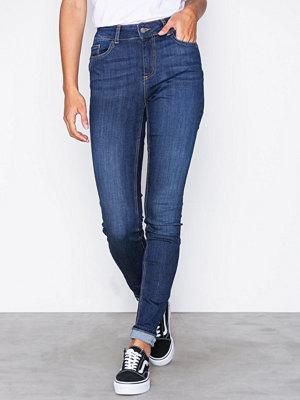Jeans - Pieces Pcfive Delly B180 Mw Skn Jns Db/Noo Mörk Blå