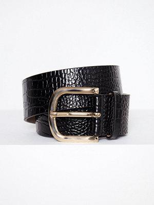 Bälten & skärp - Filippa K Wide Croco Print Belt Svart