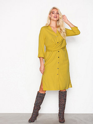 River Island Short Sleeve Dress Yellow