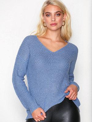 Jacqueline de Yong Jdymegan L/S Pullover Knt Noos Blå